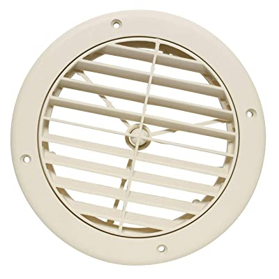 """Valterra A10-3362VP Beige Rotating Heat and A/C Register (5"""" ID, 1/4"""" Collar Extension): Automotive"""