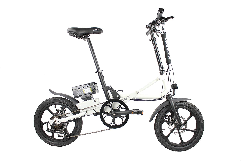 2018 xite3 bicicletas eléctricas, Eléctrico de bicicleta plegable, Eléctrico, Con Ruedas De Ebike, Pedelec, 16 pulgadas, 7 velocidades Shimano, color Weiß, ...