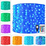 Ollny Rope Lights 180 LED 33ft 16 Multi Colors Changing Outdoor String Fairy Twinkle Strip Tube Lights with Remote Plug…