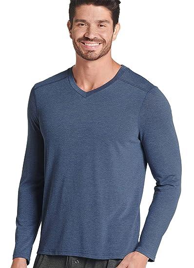 a7c7c1456d Amazon.com  Jockey Men s T-Shirts The Lounge Long Sleeve V-Neck Tee   Clothing