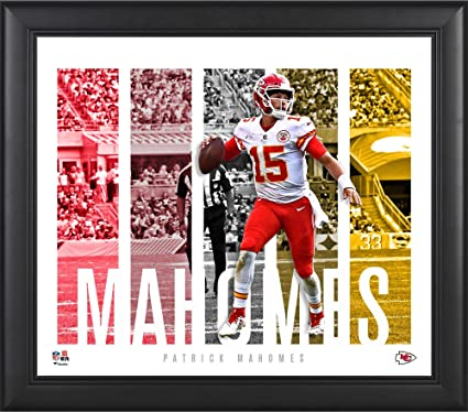 534d1e98c Amazon.com  Patrick Mahomes Kansas City Chiefs Framed 15