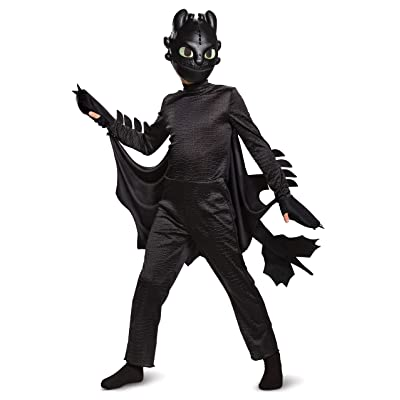 Disguise Toothless How to Train Your Dragon Hidden World Deluxe Boys' Costume: Toys & Games