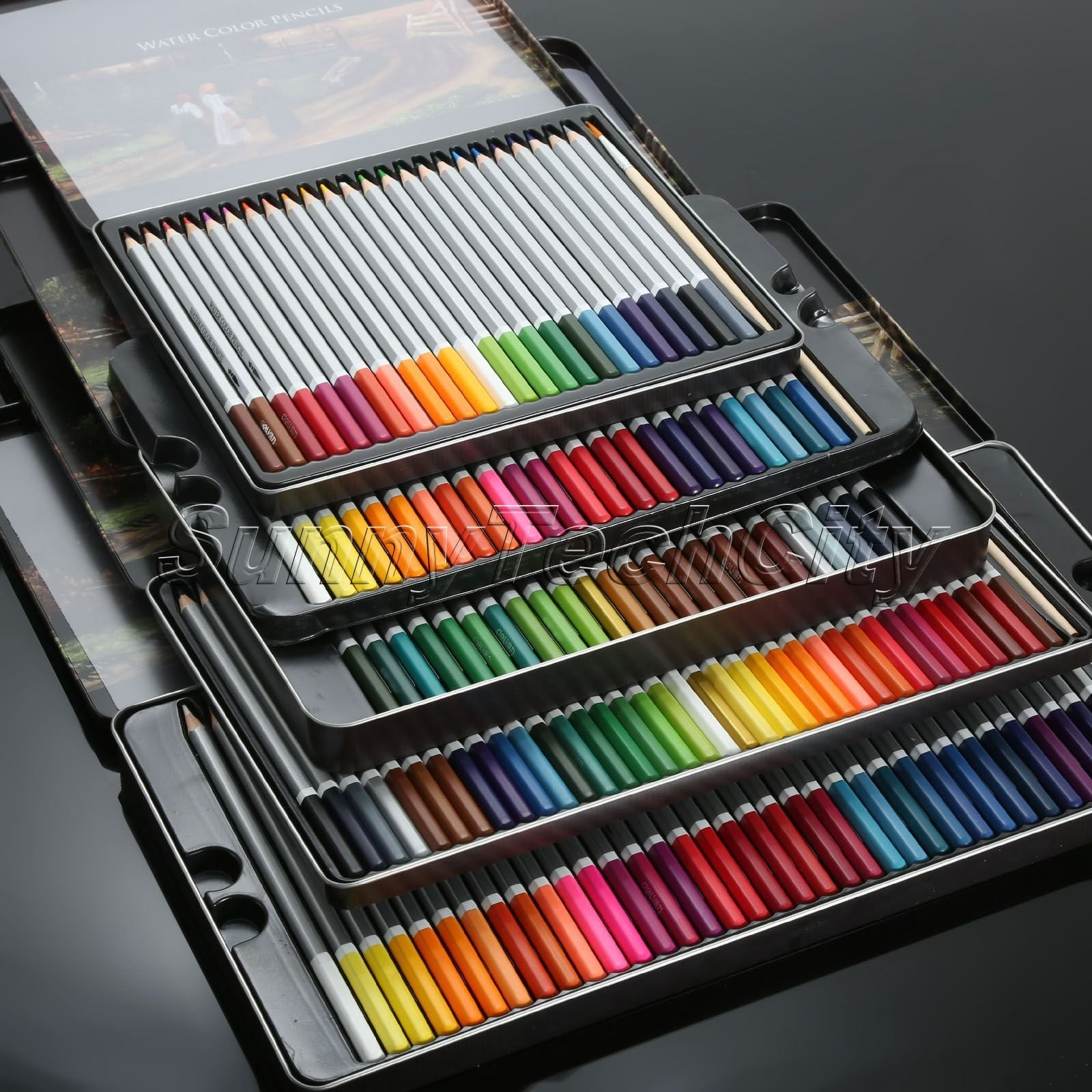 MAZIMARK--72 Water Soluble Water Color Wooden Pencil Artists Drawing Sketching Ne