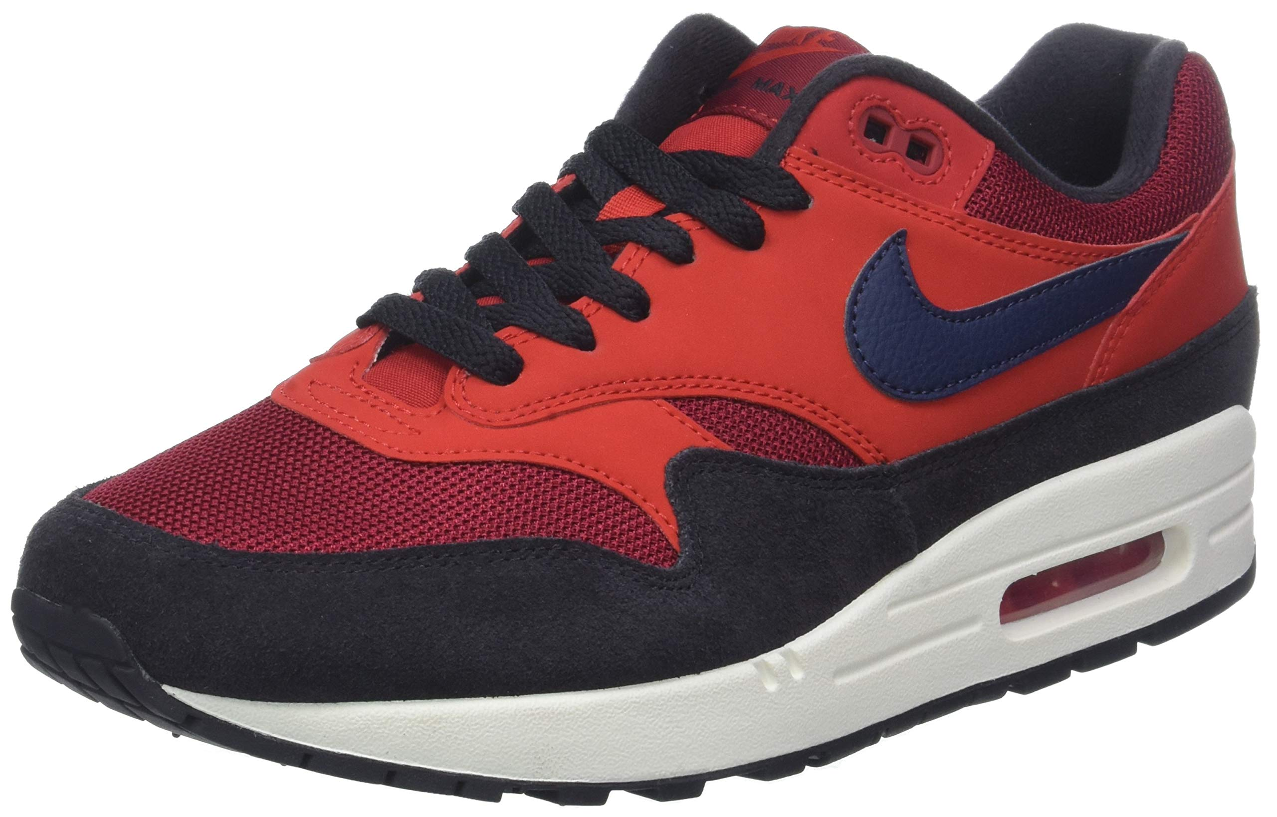 outlet store 4ba33 a9809 Galleon - Nike Air Max 1 Mens Trainers AH8145 Sneakers Shoes (UK 8 US 9 EU  42.5, Red Crush Midnight Navy 600)
