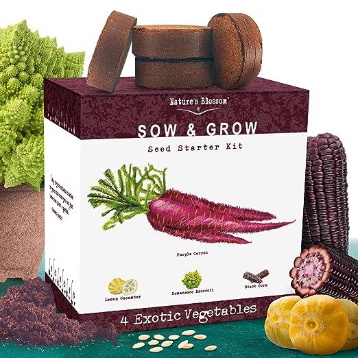 Amazon.com: 5 Kit de cultivo de verduras exóticas ...