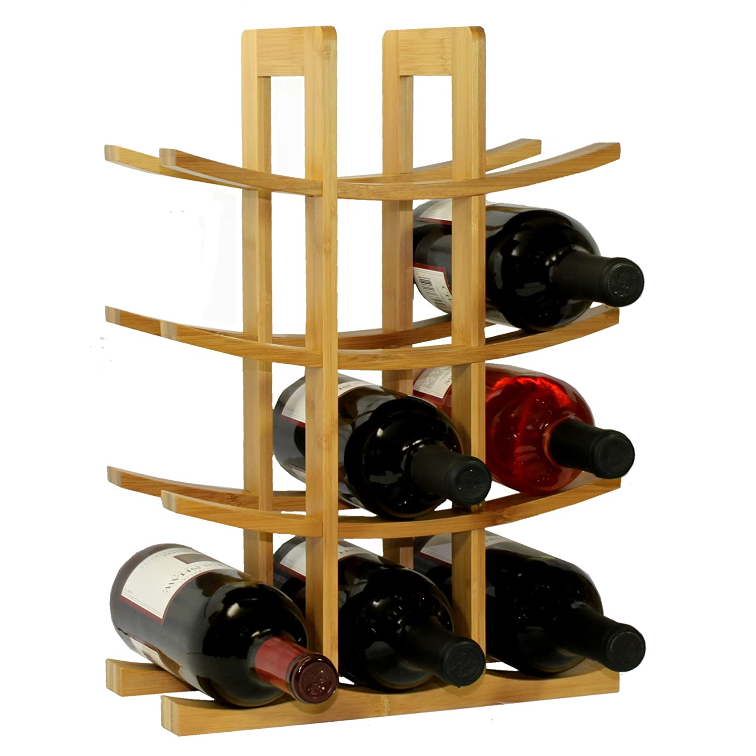 Amazon Oceanstar WR1149 12 Bottle Natural Bamboo Wine Rack