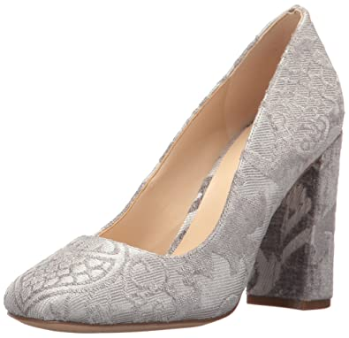 Nine West Women's Denton Fabric Pump Taupe Fabric Size 9.5