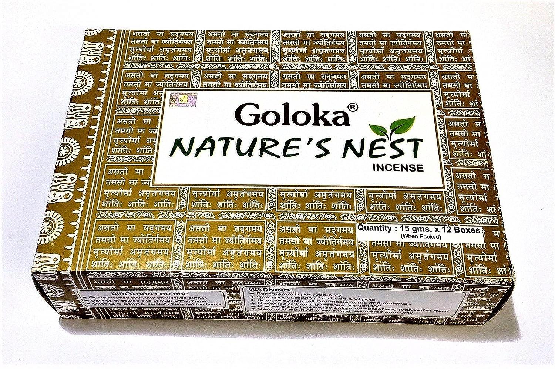 Incenso goloka Nature' s Nest, confezione da 12 scatole confezione da 12scatole