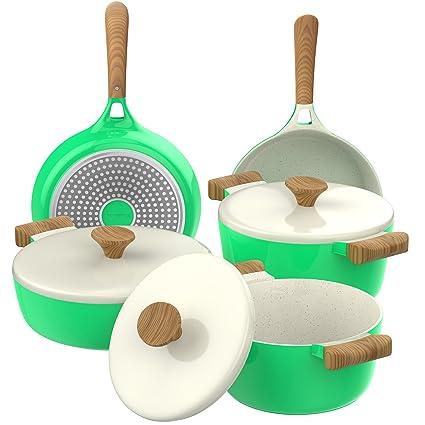 Amazoncom Vremi 8 Piece Ceramic Nonstick Cookware Set Induction