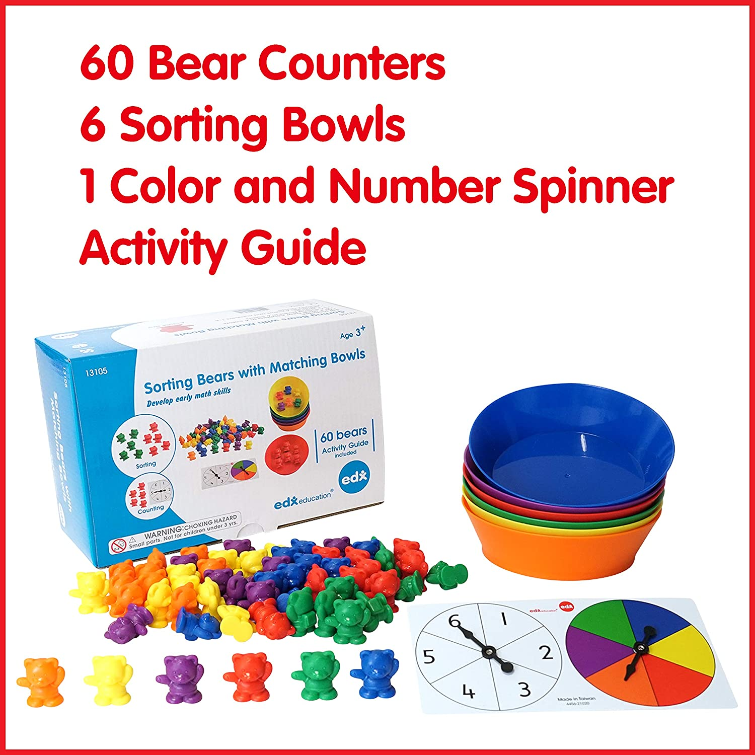 Counting bears with bowl