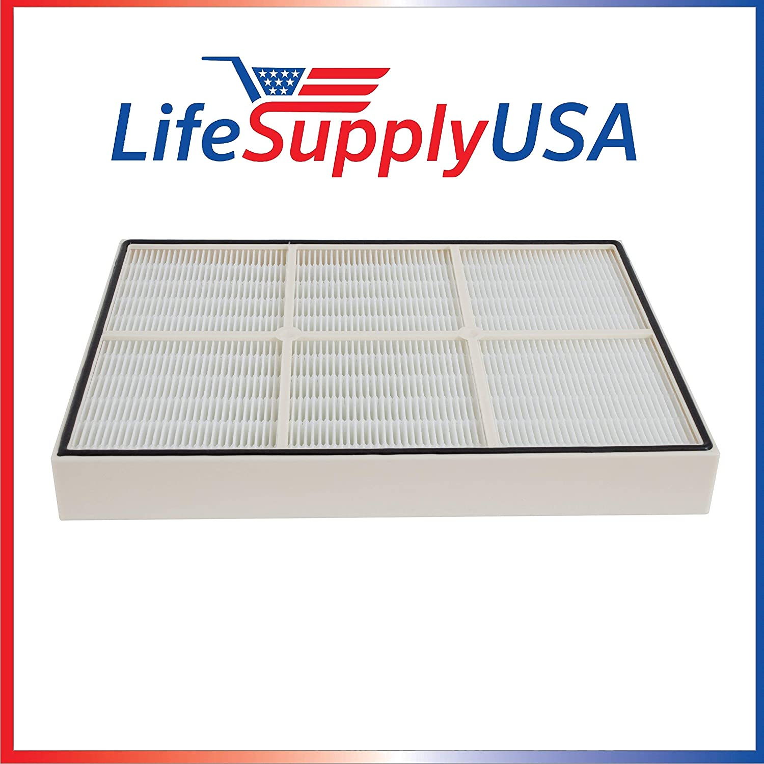 LifeSupplyUSA Filter Compatible with Whirlpool 1183054K (1183054) Plastic Frame Whispure Air Purifier Models AP350 AP450 AP510 AP45030HO 1183054 1183054K