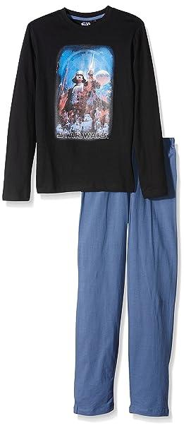 Star Wars Dark Vader-Pijama Niñas Negro Negro 10 años