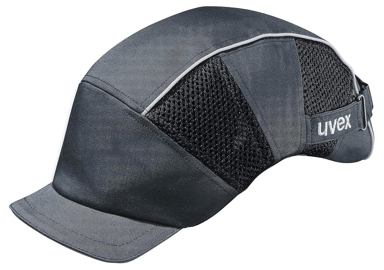 Uvex U-Cap Premium Anstoß kappe - Kopfschutz-Kappe im Armadillo-Design - mit Kurzem Schirm und Hartschale 9794301