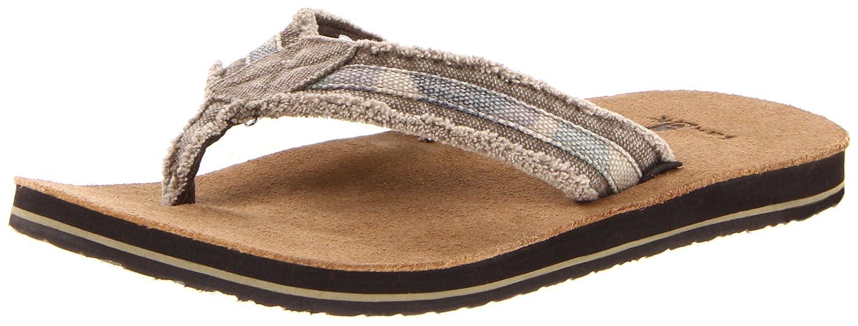 Sanuk Men's Fraid Not Flip Flop Sandal, Washed Camo, 11 M US