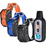 PetSpy XPro 3 Dog Training Shock Collar for Three Dogs with Remote, Fully Waterproof Vibration and Beep Electric Trainer…