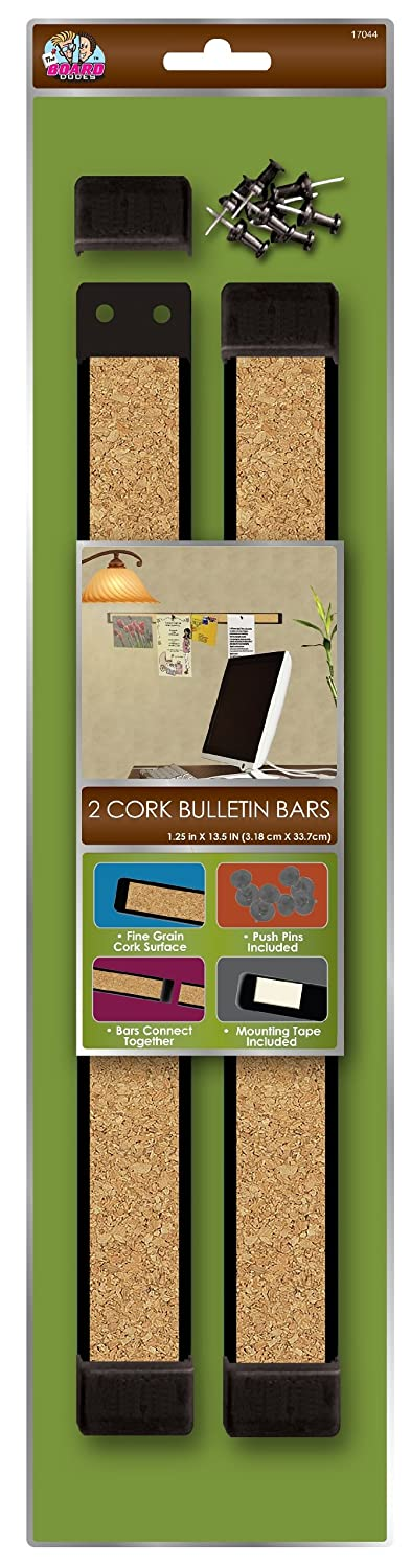 Board Dudes 12 x 1 Inches Plastic Framed Cork Bulletin Bars 2-Pack (CYF89) Mattel