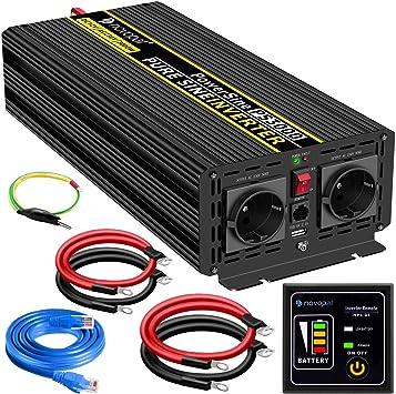 Spannungswandler 3000w Reiner Sinus Wechselrichter Inverter 12V auf 230V Auto
