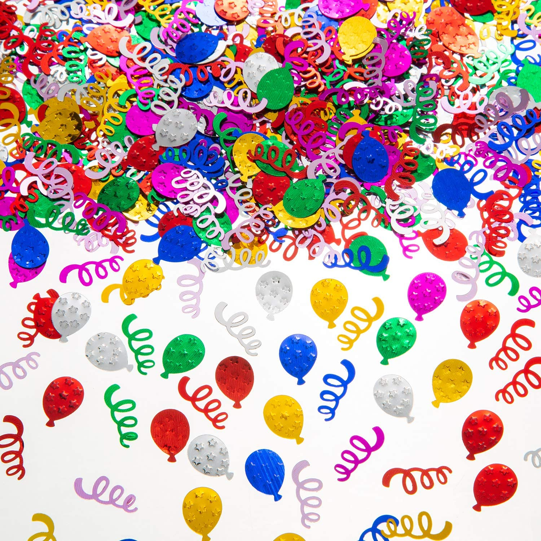 Happy Birthday Confetti Birthday Party Table Celebration Pink Black Blue Multi