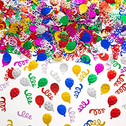 Age 30 Digital Sequins Birthday Confetti Age 60 Age 70 Birthday Party Plastic