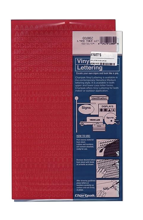 Las letras de vinilo de 1/4 pulgadas gorras rojas: Amazon.es: Hogar
