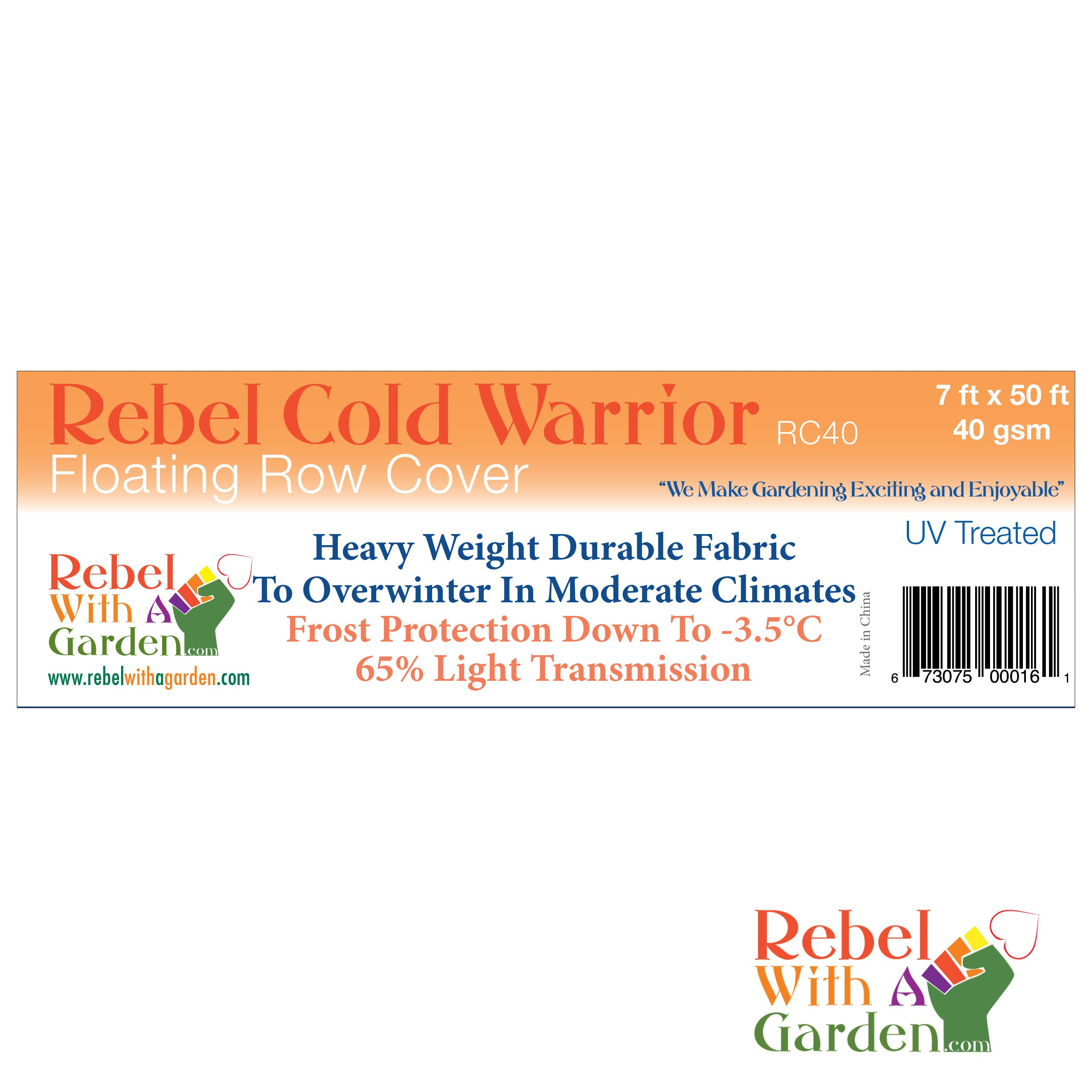 Rebel Cold Warrior 1.18 oz (40gsm) Floating Row Cover Garden Fabric (UV Treated) 7 ft by 50 ft by Rebel with A Garden by Rebel Cold Warrior (Image #4)