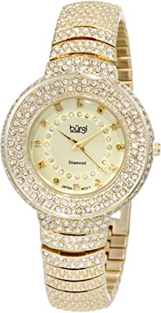 f778a67f738a5 Amazon.com  Burgi Women s BUR048YG Diamond Accent Crystal Fashion ...