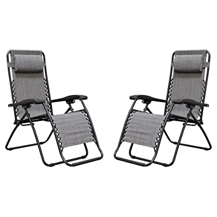 Terrific Caravan Sports Infinity Zero Gravity Chair 2 Pack Grey Lamtechconsult Wood Chair Design Ideas Lamtechconsultcom
