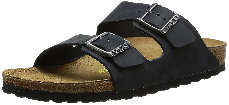 Birkenstock Arizona, Zapatos con Hebilla Unisex Adulto 45 EU (Estrecho)|Negro (Schwarz 552113)