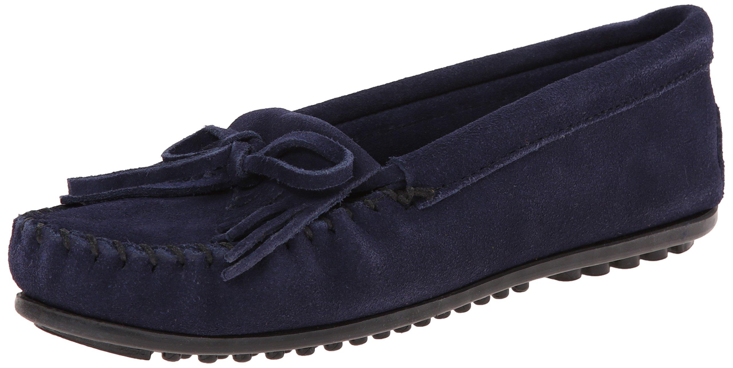 Minnetonka Shoes Womens Kilty Hardsole Moccasin 7.5 Navy 409T