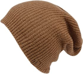 ANGELA   WILLIAM Basic Reversible Slouch Beanie Oversized Ribbed Knit  Winter Hats bn2752 66b8f8d03008