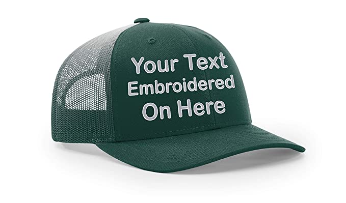 c2f7702f Custom Richardson 112 Hat with Your Text Embroidered Trucker Mesh Snapback  Cap (Adjustable Snapback 112PM