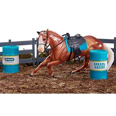 "Breyer Freedom Series (Classics) Barrel Racing Horse Playset | Model Horse Toy | 1:12 Scale (Classics) | 9"" L x 6"" H | Model #62201: Toys & Games"