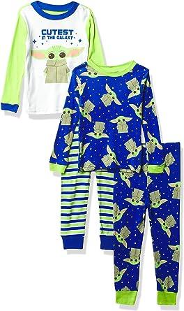 Juego de pijamas de algodón de 4 piezas para niños de Star ...
