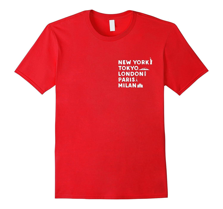Cities T-shirt New york Tokyo London Paris Milan Shirt-TD
