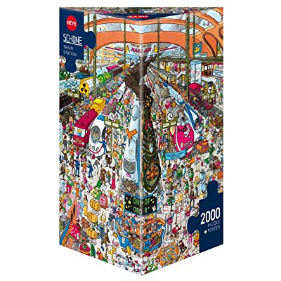 "Heye ""Train Station Schone Triangular Puzzles (2000-Piece, Multi-Colour): Toys & Games"