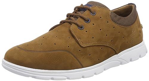 Panama Jack Detroit, Zapatos de Cordones Brogue para Hombre, Marrón (Cuero), 45 EU