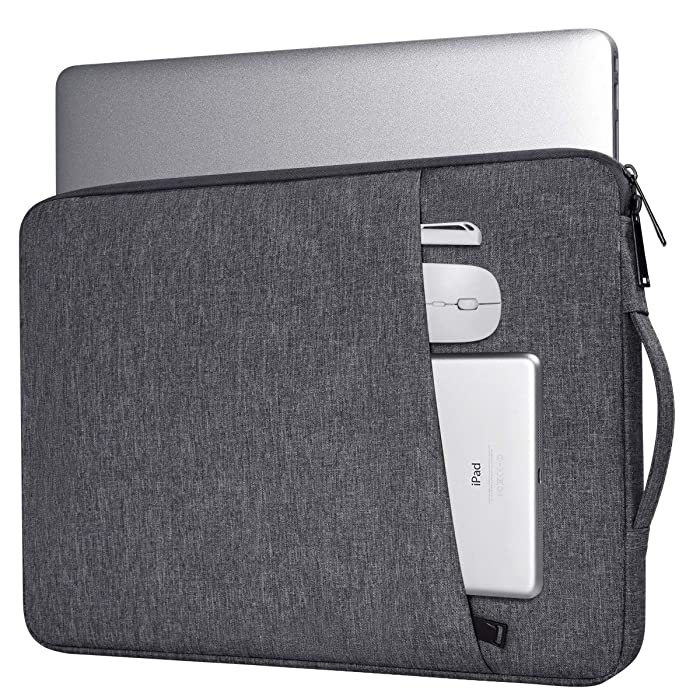 13-13.3Inch Laptop Sleeve Bag for Acer Chromebook R13 13.3, HP Envy 13, Asus ZenBook/Dell Inspiron 5000/LG Gram/MacBook Pro/HP Pavilion Protective Case Cover with Pocket(Space Grey)