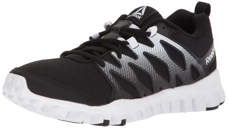 Reebok Women's Realflex Train 4.0 Cross-Trainer Shoe B072LXNQ7V 7.5 B(M) US|Black/White