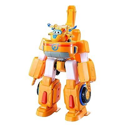 Auldey - Super Wings - Véhicules transformables en Robots 18 cm + 1 figurine Transform'a'Bot