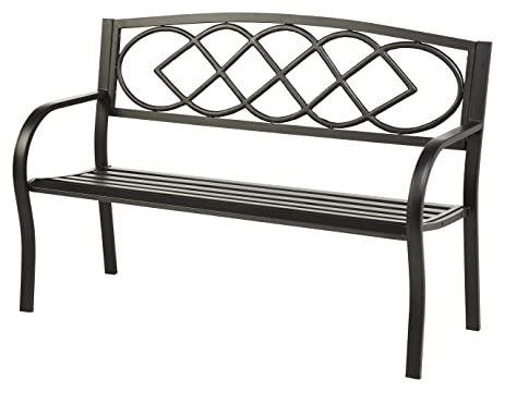 Plow U0026 Hearth Celtic Knot Patio Garden Bench Park Yard Outdoor Furniture,  Cast And Tubular Part 60