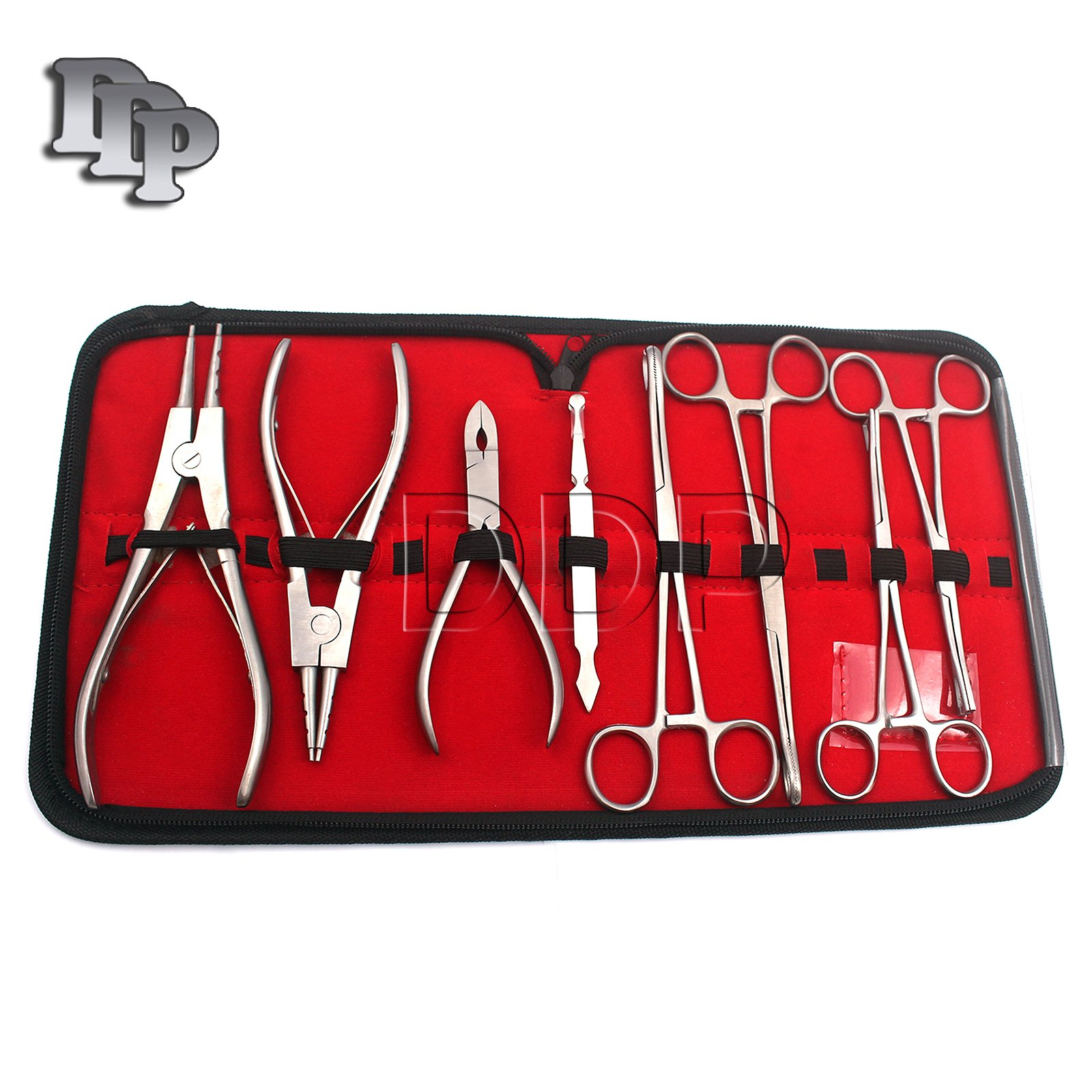 DDP 8PC PROFESSIONAL PIERCING TOOL KIT W/ CASE