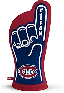 YouTheFan NHL #1 Oven Mitt:13.25'' x 6.5'' Heat Resistant 100% Quilted Cotton Team Oven Mitt