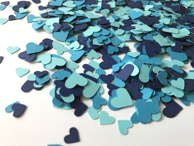 Amazon Com Shades Of Blue Mini Heart Confetti Heart