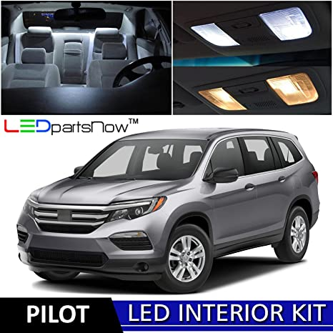 LEDpartsNow 2016 2017 Honda Pilot LED Interior Lights Accessories  Replacement Package Kit (15 Pieces