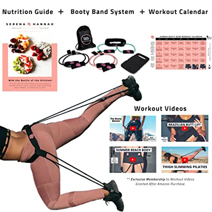 Amazon Com Hannah Booty Band System With Workout Videos 30 Day