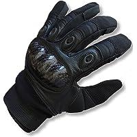 Paintball guantes den-ops negro integral plástico respaldo trasero