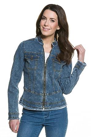 GINA LAURA Damen   Jeans-Jacke   Metall-Reißverschluss   Größe S-XXXL 2018e0ffa3