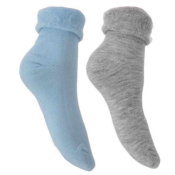 Pertemba Global 2 pares de calcetines térmicos para dormir (37-41 EU/Azul