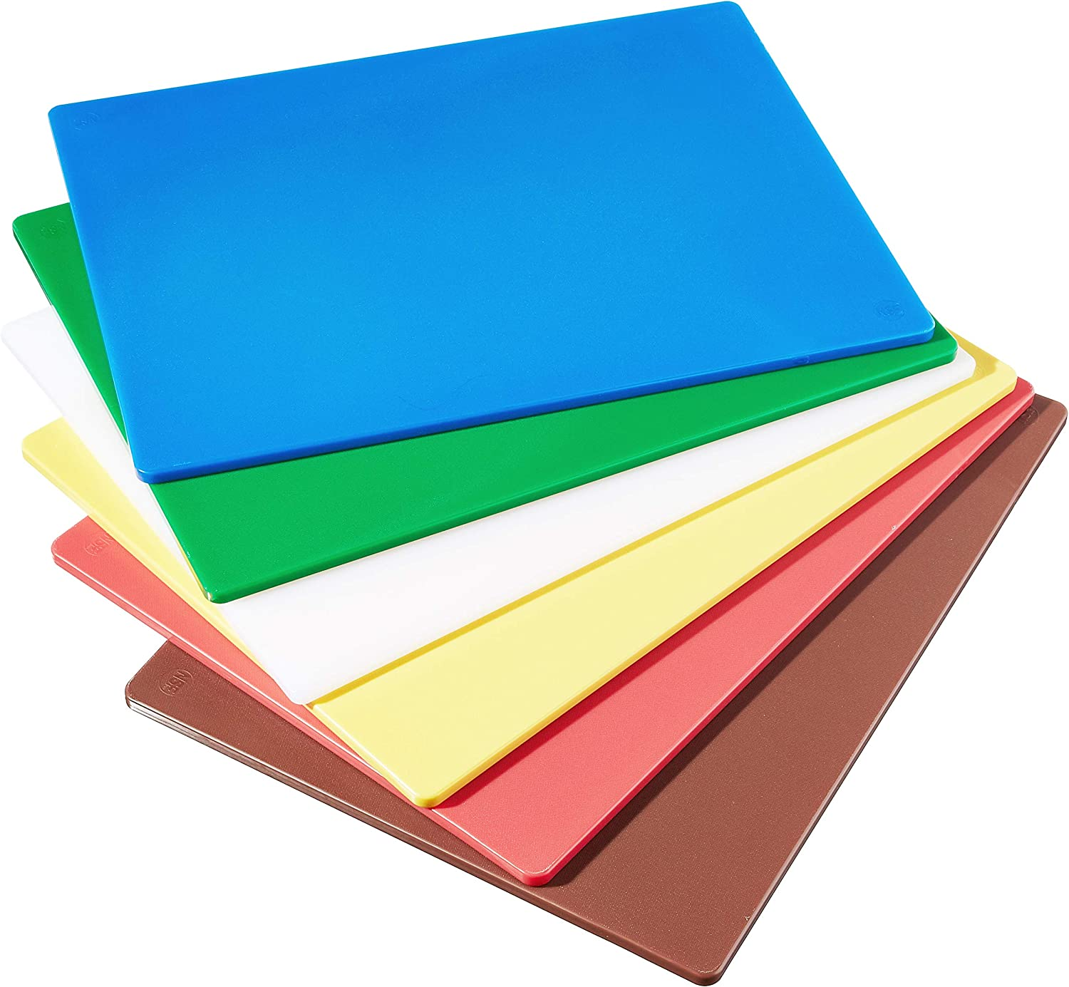 Winco CBST-1824 Cutting Board Set, 18-Inch by 24-Inch by 1/2-Inch, Assorted Colors