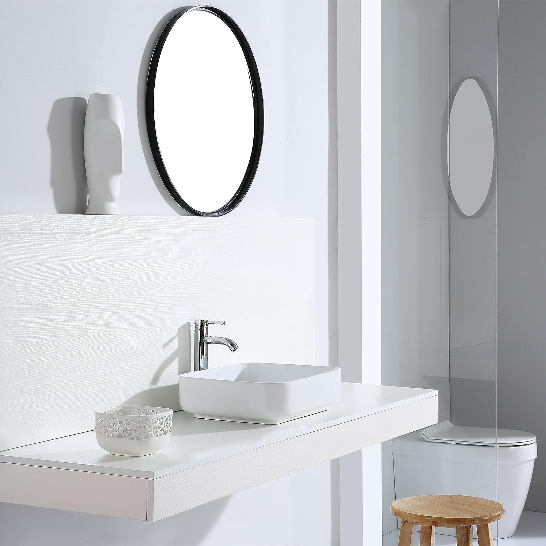 fregadero de cer/ámica lavabo sobre encimera 50 cm Eridanus serie Keiko la parte superior de lavabo